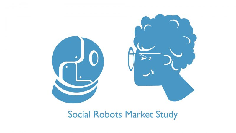 Illustration of a robot facing an elder woman