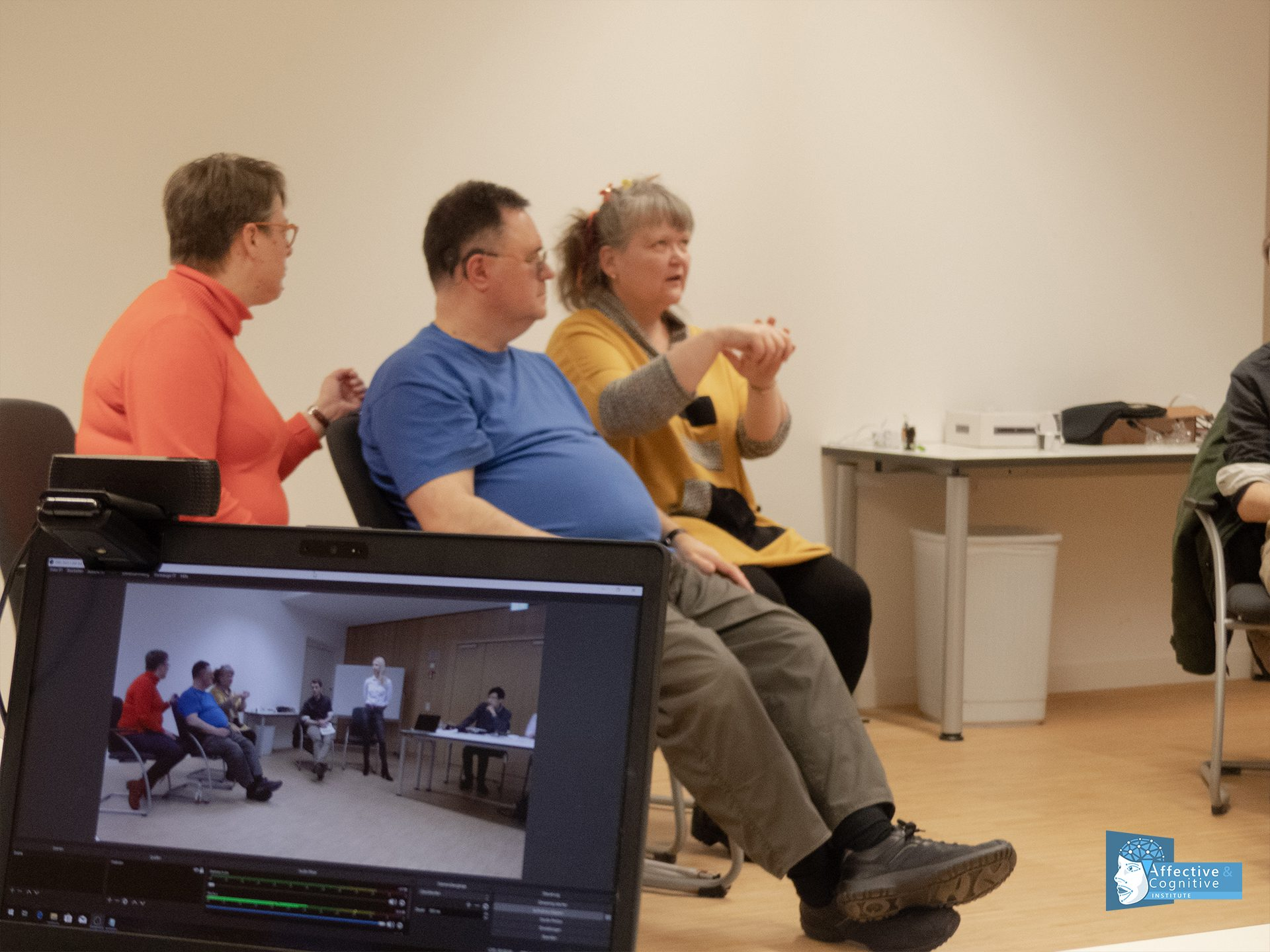 An image of the setup of our participatory design session